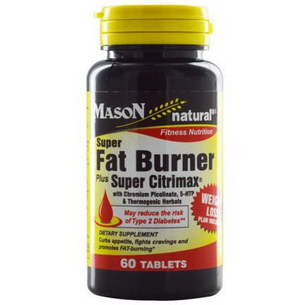 Mason Vitamins, Super Fat Burner Plus Super Citrimax, 60 Tablets