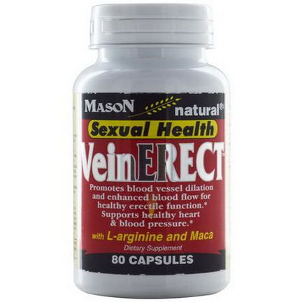 Mason Vitamins, Vein Erect with L-Arginine and Maca, 80 Capsules