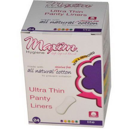 Maxim Hygiene Products, Ultra Thin Panty Liners, Lite, 24 Panty Liners
