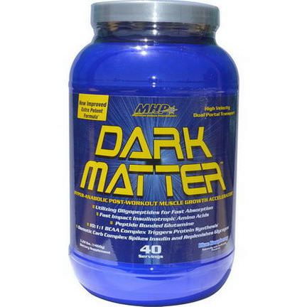 Maximum Human Performance, LLC, Dark Matter, Muscle Growth Accelerator, Blue Raspberry 1460g
