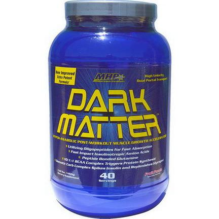 Maximum Human Performance, LLC, Dark Matter, Muscle Growth Accelerator, Fruit Punch 1460g