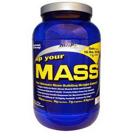 Maximum Human Performance, LLC, Up Your Mass, Vanilla 862g