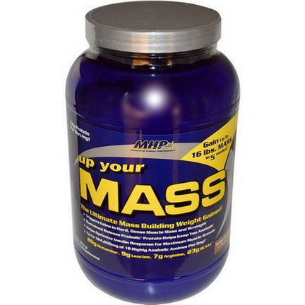 Maximum Human Performance, LLC, Up Your Mass, Weight Gainer, Fudge Brownie 931g
