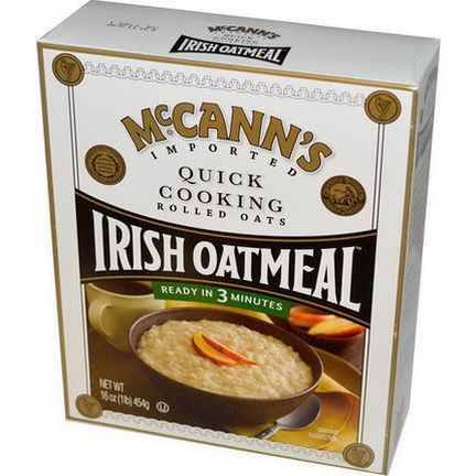 McCann's Irish Oatmeal, Quick Cooking, Rolled Oats 454g