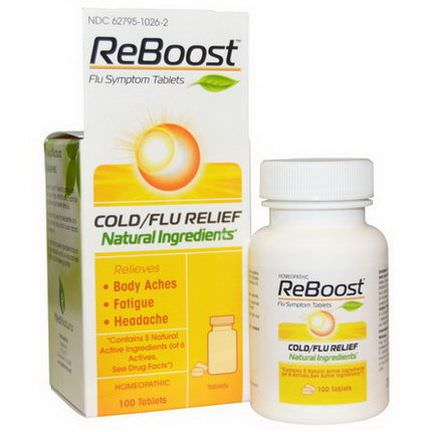 MediNatura, ReBoost, Cold/Flu Relief, 100 Tablets