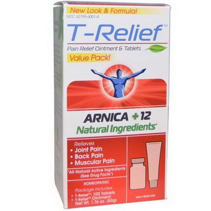 MediNatura, T-Relief, Arnica +12 Natural Ingredients 50g - 2 Pieces