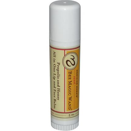 Medicine Mama's, Sweet Bee Magic Wand, All in One Lip&Face Balm, Propolis and Honey.5 oz