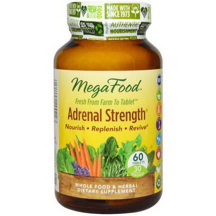 MegaFood, Adrenal Strength, 60 Tablets