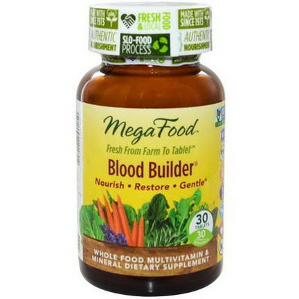 MegaFood, Blood Builder, 30 Tablets