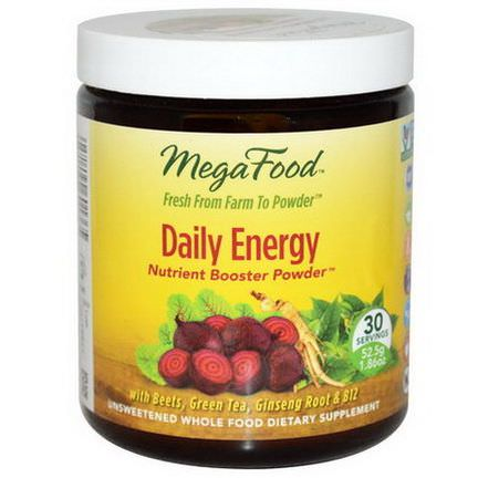 MegaFood, Daily Energy Nutrient Booster Powder, 30 Servings 52.5g