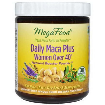 MegaFood, Daily Maca Plus, Women Over 40 45.3g