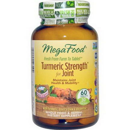 MegaFood, Turmeric Strength for Joints, 60 Tablets