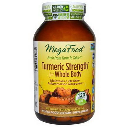 MegaFood, Turmeric Strength for Whole Body, 120 Tablets