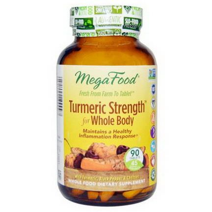 MegaFood, Turmeric Strength for Whole Body, 90 Tablets