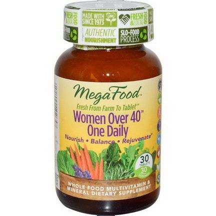 MegaFood, Women Over 40 One Daily, 30 Tablets
