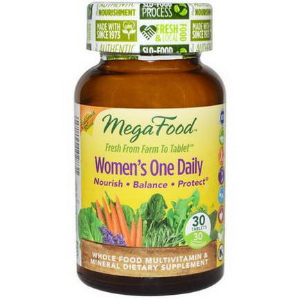 MegaFood, Women's One Daily, Whole Food Multivitamin&Mineral, 30 Tablets