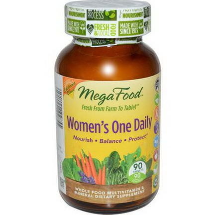 MegaFood, Women's One Daily, Whole Food Multivitamin&Mineral, 90 Tablets