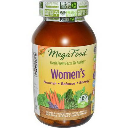 MegaFood, Women's, Whole Food Multivitamin&Mineral, 180 Tablets