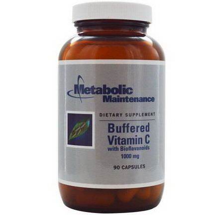 Metabolic Maintenance, Buffered Vitamin C with Bioflavonoids, 1000mg, 90 Capsules