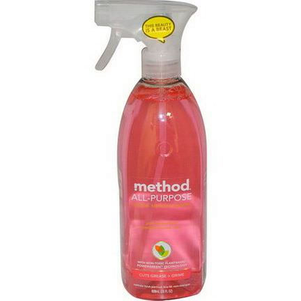 Method, All Purpose Natural Surface Cleaner, Pink Grapefruit 828ml