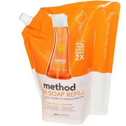 Method, Dish Soap Refill, Clementine 1064ml