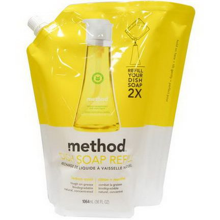 Method, Dish Soap refill, Lemon Mint 1064ml