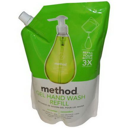 Method, Gel Hand Wash Refill, Cucumber 1 L