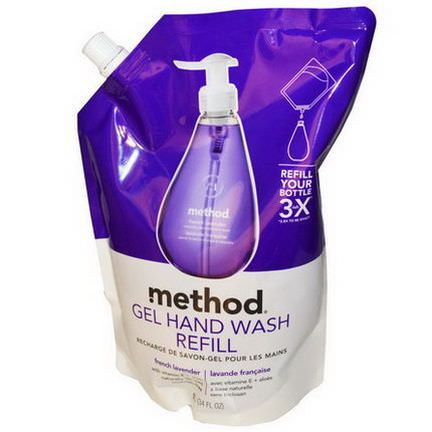 Method, Gel Hand Wash Refill, French Lavender 1 L