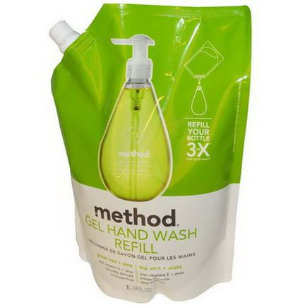 Method, Gel Hand Wash Refill, Green Tea Aloe 1 L