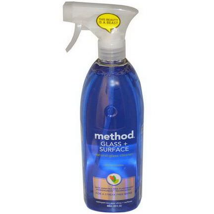 Method, Glass Surface, Natural Glass Cleaner, Mint 828ml
