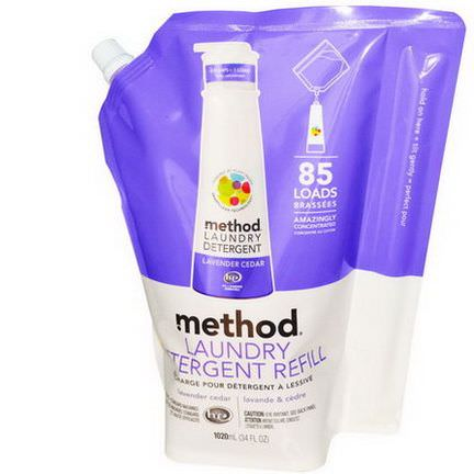 Method, Laundry Detergent Refill, Lavender Cedar, 85 Loads 1020ml