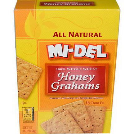 Mi-Del Cookies, Honey Grahams 454g