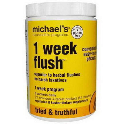 Michael's Naturopathic, 1 Week Flush 84 Tablets