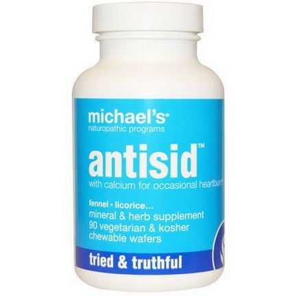 Michael's Naturopathic, Antisid, 90 Veggie Chewable Wafers