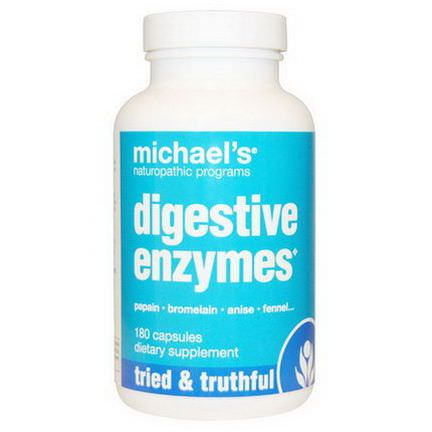 Michael's Naturopathic, Digestive Enzymes, 180 Capsules