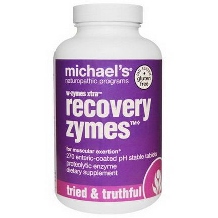 Michael's Naturopathic, W-Zymes Xtra, Recovery Zymes, 270 Enteric-Coated pH Stable Tablets