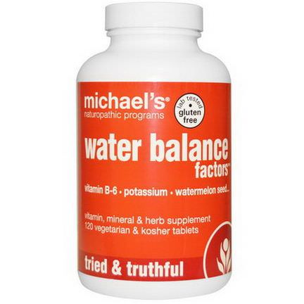 Michael's Naturopathic, Water Balance Factors, 120 Veggie Tablets