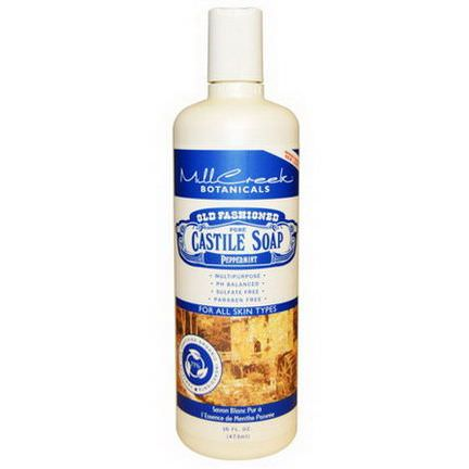 Mill Creek, Old Fashioned Pure Castile Soap, Peppermint 473ml