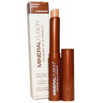 Mineral Fusion, Lipstick Butter, Luscious 4g