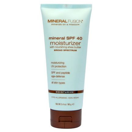 Mineral Fusion, Mineral SPF 40 Moisturizer, Moisturize, For All Skin Types 96g