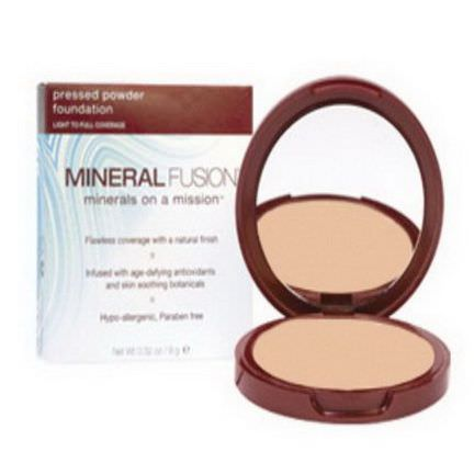 Mineral Fusion, Pressed Powder Foundation, Light to Full Coverage, Neutral 2 9g