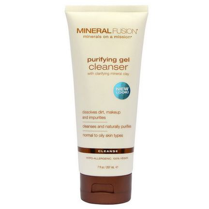 Mineral Fusion, Purifying Gel Cleanser, Cleanse 207ml
