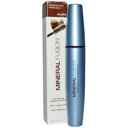 Mineral Fusion, Waterproof Mascara, Cliff 17ml