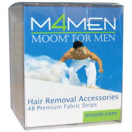 Moom, M4Men, Hair Removal Accessories, 48 Premium Fabric Strips