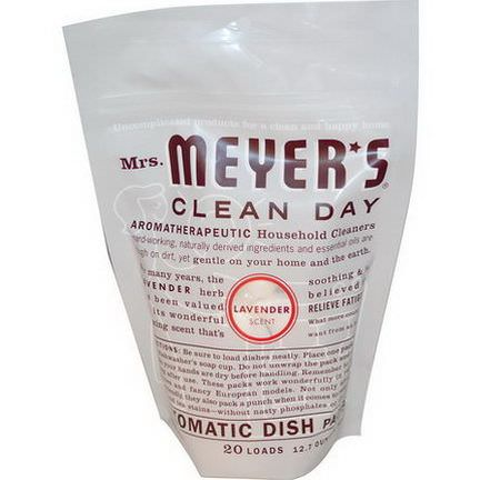Mrs. Meyers Clean Day, Automatic Dish Packs, Lavender Scent 360g