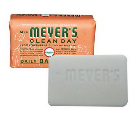 Mrs. Meyers Clean Day, Daily Bar Soap, Geranium Scent 150g