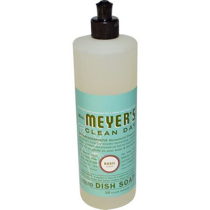 Mrs. Meyers Clean Day, Liquid Dish Soap, Basil Scent 473ml