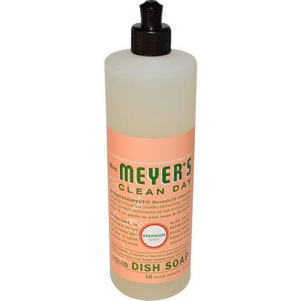 Mrs. Meyers Clean Day, Liquid Dish Soap, Geranium Scent 473ml