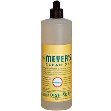Mrs. Meyers Clean Day, Liquid Dish Soap, Honeysuckle Scent 473ml