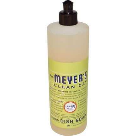 Mrs. Meyers Clean Day, Liquid Dish Soap, Lemon Verbena Scent 473ml